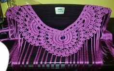 Portada de feria Crochet Poncho, Crochet Top, Crochet Clothes, Crochet Necklace, Fancy, Knitting, Handmade, Macrame, Women