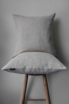 Oatmeal linen cushion | Textile Theory