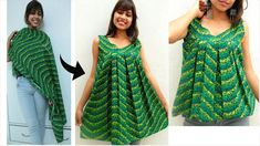 In today's video i am showing you that how you can convert old cotton dupatta or any cotton fabric into Umbrella top or umbrella kurti which can also wear as. Dress Neck Designs, Kurti Neck Designs, Kurti Designs Party Wear, Blouse Designs, Baby Girl Dress Patterns, Dress Sewing Patterns, Sewing Blouses, Stitching Dresses, Kids Frocks