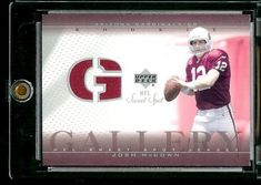 2002 Upper Deck Sweet Spot Gallery Rookie Jersey Josh McCown Arizona Cardinals Football Card - Mint Condition - Shipped In Protective ScrewDown Case!  https://allstarsportsfan.com/product/2002-upper-deck-sweet-spot-gallery-rookie-jersey-josh-mccown-arizona-cardinals-football-card-mint-condition-shipped-in-protective-screwdown-case/  Great looking card of this NFL superstar!! This is just one of the 1000s of great single sports cards we are offering here on Amazon Buy More Car