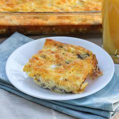 Healthy Breakfast Casserole Recipe - add some spinach or broccoli