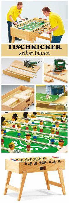 Ein Tischkicker ist ein tolles Party-Spiel, welches man selbst bauen kann. Unsere Schritt für Schritt Bauanleitung zeigt dir den Bau des Fußball-Kickers.