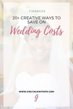 20 Creative Ways to Save Money on Wedding Costs Wedding Expenses, Wedding Costs, Budget Wedding, Wedding Planners, Wedding Planning Tips, Wedding Tips, Wedding Hacks, Free Wedding, Wedding Blog