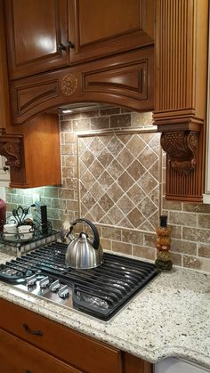 travertine kitchen backsplash cabintes 27 best images mosaic in walnut and giallo ornamental granite countertops new
