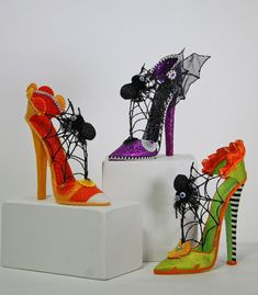 Fashionista Tabletop Shoes - Katherine's Collection. These tabletop decorations are spooky and fabulous! Candy Halloween's line includes…