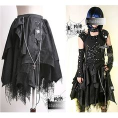 Black Alternative Emo Goth Steam Punk Clothes Long Skirts Costumes SKU-2010191  ( Get your goth on with gothic punk clothing - a favorite repin of ... cdf1f09a7