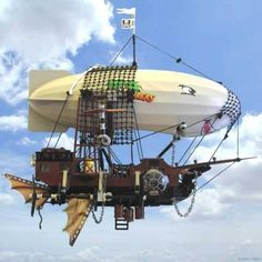 STEAMPUNK AIRSHIPS....because ZOMBIES can't fly!