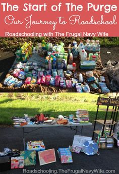 Update: Our Yard Sale and First Purge - Roadschooling with The Frugal Navy Wife