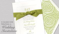 A Guide for Writing a Wedding Invitation by FineStationery.com