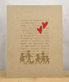 one layer card - kraft. Maybe some christmas card inspiration here!