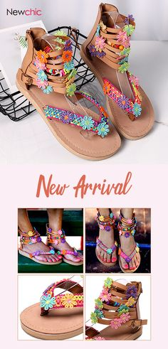 Large Size Women Folkways Colorful Flowers Ankle Zipper Flip Flops Sandals is comfortable to wear. Shop on NewChic to see other cheap women sandals on sale. Equestrian Boots, Western Boots, Flip Flop Shoes, Flip Flops, Mid Calf Boots, Knee Boots, Ladies Of London, Sandals For Sale, Fashion Boots
