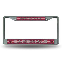 NFL Arizona Cardinals Bling Glitter Chrome License Plate Frame