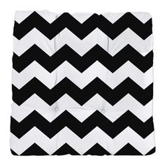 Chevron Zigzag Black White Classy Tufted Chair Cus on CafePress.com