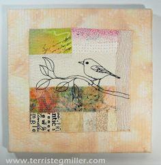 bird collage - Terri Stegmiller Art Quilts