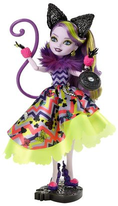 Amazon.com: Ever After High Way Too Wonderland Kitty Chesire Doll: Toys & Games
