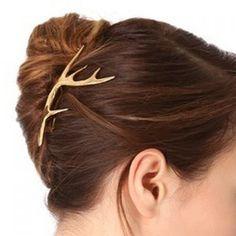 Wholesale Classic Women's Deer Horn Hairpin Only $0.88 Drop Shipping | TrendsGal.com