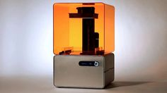 Form 1  Born out of MIT's Media Lab, and funded by Kickstarter, this Stereolithography-based fabricator could very well be the next big thing in consumer-grade 3D printing. Designed by Formlabs.