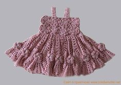 Resultado de imagem para vestidos para barbie a crochet en pinterest