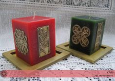 Latonagem by Norma Embossing Stamp, Metal Embossing, Aluminum Foil Art, Pewter Art, Silver Work, Candle Making, Pillar Candles, Metal Working, Arts And Crafts