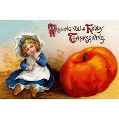 Buyenlarge 'Wishing you a Happy Thanksgiving' Wall Art