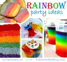 Colors of the rainbow party ideas!