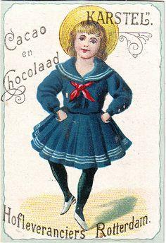 Sailor suit chocolate ad. Karstel Cacao