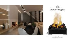Custom Opti-Myst Cassette (Large) Fireplace using 2 units Farmhouse Fireplace, Cassette, Home Comforts, Baseboards, Electric Fireplaces, The Unit, Wood, Woodwind Instrument, Timber Wood