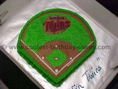 How to make a baseball field birthday cake