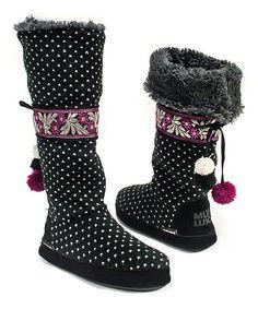 Love this Black Jasmine Slipper Boot on #zulily! #zulilyfinds