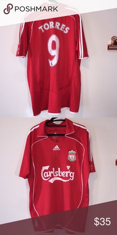 Replica 2007 Liverpool soccer jersey Liverpool jersey from 2007 kit. FERNANDO TORRES. Lightly worn. Adidas Other