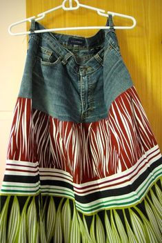 Rock aus Jeans und Umstandskleid / Skirt made from jeans and maternity dress / Upcycling