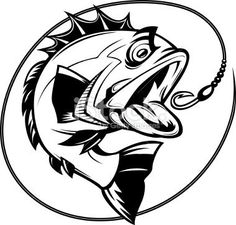 bass fishing graphic Royalty Free Stock Vector Art Illustration