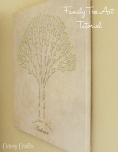 Cutesy Crafts: Family Tree Art Tutorial - I have to try this sometime but not sure how my crazy family tree would look.