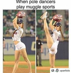 When pole dancers play muggle sports