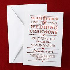 White Wedding Ideas - Announcing - Shimmer Invitation - White (Invitation Link - http://occasionsinprint.carlsoncraft.com/Weddings/Invitations/WA-WA30939FLWHT-Announcing--Shimmer-Invitation--White.pro)