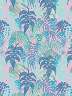 LOST - Pastel Art Print by Schatzi Brown #tropical #pastel #pattern
