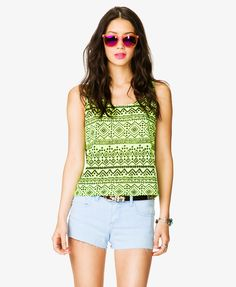 Tribal Print Burnout Tank | FOREVER21 - 2027706284
