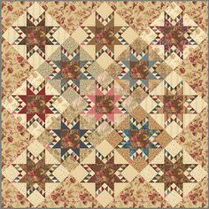 Wishing Star quilt pattern from Laundry Basket Quilts