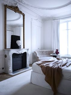 Patrick Gilles & Dorothee Boissier's Paris Apartment. 19th Century meets 21st century perfection. Together they own the Architecture & Design firm Gilles + Boissier.