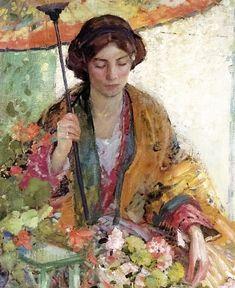 e3+Richard+Edward+Miller+%28American+painter%2C+1875-1943%29+Women+with+Umbrella.jpg 620×759 pixels