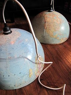 The Painted Home: { Globe Pendants } tutorial