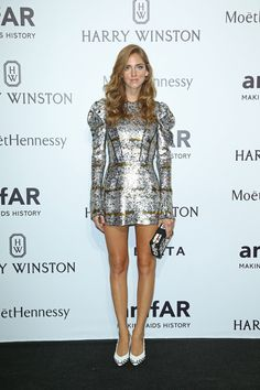 Le gala de L'amfAR  Chiara Ferragni portait une robe Louis Vuitton.  © Getty