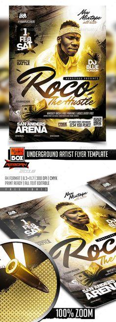 Underground Artist Flyer Template PSD