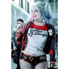Harley quinn margot robbie suicide squad DC comics ❤ liked on Polyvore featuring harley quinn, dc and backgrounds