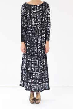 Osei Duro Prorsum Dress - 100% silk crepe de chine hand printed and dyed in Ghana. Seems easy & comfy but still striking.
