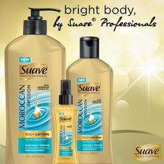 Be head-to-toe radiant with NEW Suave Professionals Moroccan Infusion Body Care.