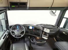Scania Truck many type Suv Trucks, Big Rig Trucks, Tow Truck, Small Electric Cars, Benne, Mercedes Truck, Scania V8, Truck Interior, Interior Design