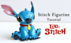 "a video on how to make Stitch from ""Lilo and Stitch"" out of polymer clay."
