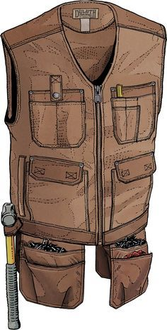 Hang up your heavy tool belt and spare your back with the Ultimate Fire Hose Apron Work Vest with Utility Pockets. Load up this beast of burden's 12 pockets plus 4 removable heavy-duty nail pouches. Rugged Fire Hose� cotton canvas repels spills and stains