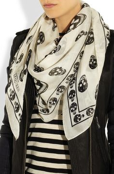 alexander mcqueen scarf - accessories make the outfit on redsoledmomma.com